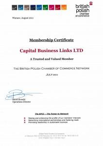 BPCC Membership Certificate 2011