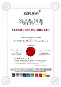 BPCC Membership Certificate